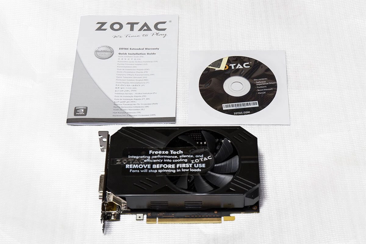 ZOTAC GeForce GTX 960 ZT-90311-10M 4GBモデル 付属品