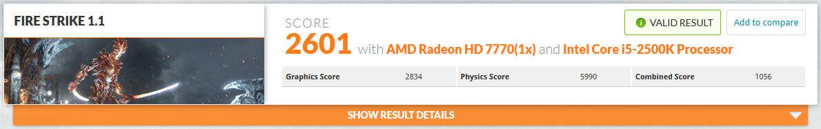 ベンチマーク計測:RADEON HD7770